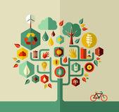 Eco hållbart liv träd — Stockvektor