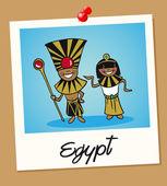Egypt travel polaroid — Stock Vector