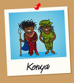 Kenya travel polaroid — Stock Vector