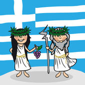Welcome to Greece — Stock Vector
