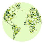 Zielony świat ikon — Wektor stockowy