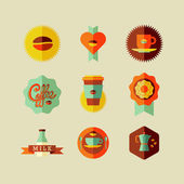 Coffee Shop flat icons — Stock Vector
