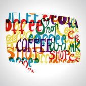 Forme de bulles café — Vecteur