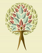 India yoga leaf tree — Stock Vector