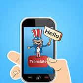 English translation app concept — Stock Vector
