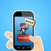 Translation app concept — Stock Vector