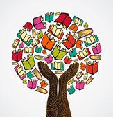 Concept design books tree — Stock Vector