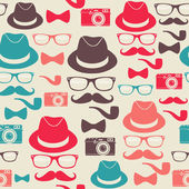Hipsters seamless pattern — Stock Vector