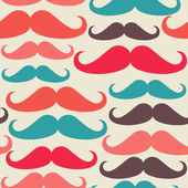 Hipsters mustache seamless pattern — Stock Vector