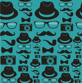 Indie hipsters seamless pattern — Stock Vector