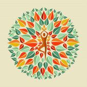 India yoga mandala — Stock Vector