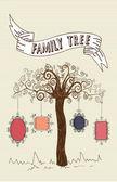 Vintage frames tree — Stock Vector