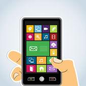 モバイル アプリケーションの多様性 — ストックベクタ