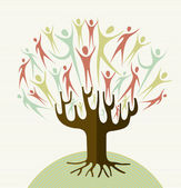 Embrace diversity tree set — Stock Vector
