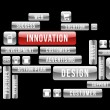 Innovation design web buttons — Image vectorielle