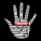 Iinnovation design human hand — Stock Vector