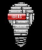 Creative ideas light bulb — Stock Vector