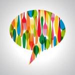 Cutlery speech bubble illustration — Stock Vector #29250783