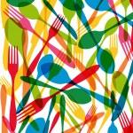 Cutlery seamless pattern illustration — Stock Vector #29251423