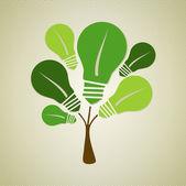 Green life tree illustration — Stock Vector