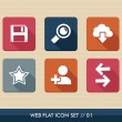 Web apps square flat icons set. — Stock Vector