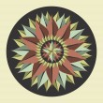 Yoga leaf mandala. — Stock Vector #29913565