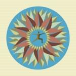 Human leaf yoga mandala. — Stock Vector #29913671