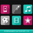 Entertainment flat icons set. — Stock Vector
