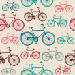Stock Vector: Vintage bike elements seamless pattern.