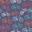 Retro hipster bicycle seamless pattern. — Stock Vector #29916119