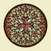 Leaves yoga mandala — Stock Vector