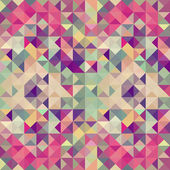 Vintage hipsters geometric pattern. — Stock Vector