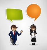 Work group business cartoon people — Stock Vector