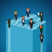 бизнес работа группы успех уровнях люди. — Cтоковый вектор