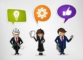 Business teamwork cartoon people — Stock Vector