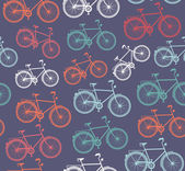 Retro hipster bicycle seamless pattern. — Stock Vector