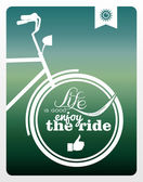 Retro life style bicycle poster. — Stock Vector