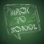 Education back to school chalkboard social bubble. — Stock Vector #30106737
