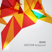 Red and yellow geometric transparency. — Stock Vector
