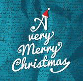Состав веселая рождественская елка. — Cтоковый вектор