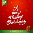 A very Merry Christmas tree composition illustration. — Stock Vector