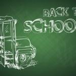 Вернуться к доске образования школьный автобус эскиз EPS10 файла — Cтоковый вектор