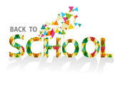 Back to school colorful triangles EPS10 background file. — Vettoriale Stock