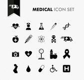 Set di icone mediche fresco. — Vettoriale Stock