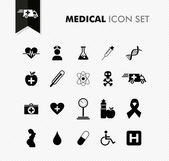 Fresh medical icon set. — Stock Vector
