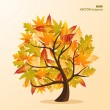 Fall season tree concept with leaves EPS10 file background. — Stock Vector #30760769