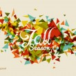 Colorful fall season text with triangles concept background EPS1 — Vettoriali Stock