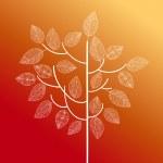 抽象的な手描き、ツリー図の秋の概念。eps10 ファイル — ストックベクタ