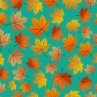 Vintage autumn leaves seamless pattern background. EPS10 file. — Vecteur