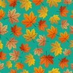 ビンテージ秋の葉のシームレスなパターン背景。eps10 ファイル — ストックベクタ